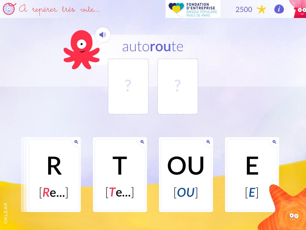 Application numérique d'apprentissage de la lecture-écriture pour enfants